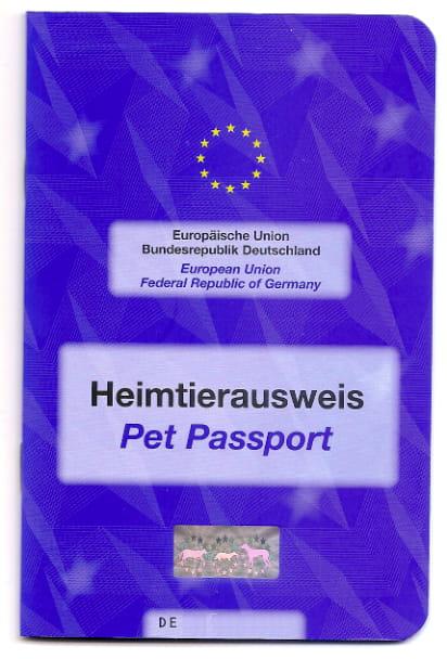 Europees huisdierenpaspoort