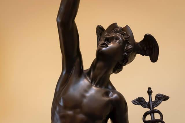 Mercurius god van transport